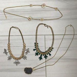 Long & short statement necklace bundle